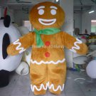 Free Shipping Gingerbread Man Mascot costume 3 for Adult Christmas costume