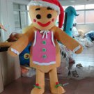 Free Shipping Gingerbread Man Mascot costume 5 for Adult Christmas costume