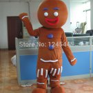 Free Shipping Gingerbread Man Mascot costume 6 for Adult Christmas costume