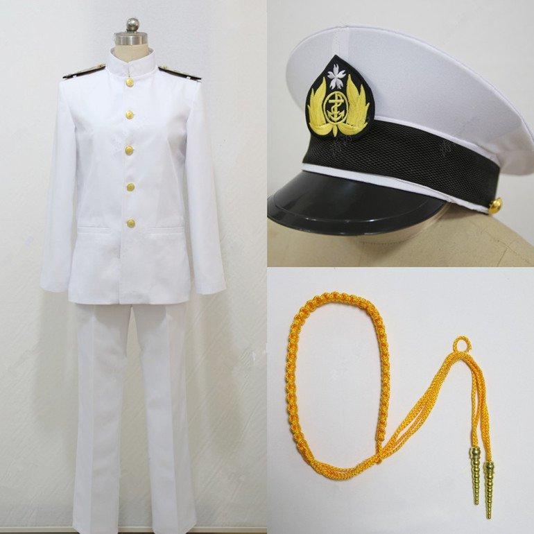 Free Shipping Kantai Collection Kantai Collection teitoku T Admiral uniforms Cosplay Costume