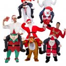 Free Shipping Christmas Santa Claus Raindeer Rudolf  Snowman Ride on Me Fancy Mascot Costume