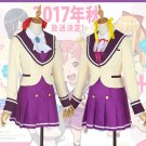 Free Shipping Anime Gataris Asagaya Minoa Kamiigusa Arisu School Uniform Cosplay Costume
