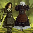 Free Shipping Alice Madness Returns Cosplay Costume Alice Stream Cosplay For Halloween Party