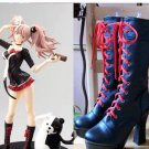 Free Shipping Danganronpa 2 Enoshima Junko Cosplay Boots Lace Up High Heel Shoes