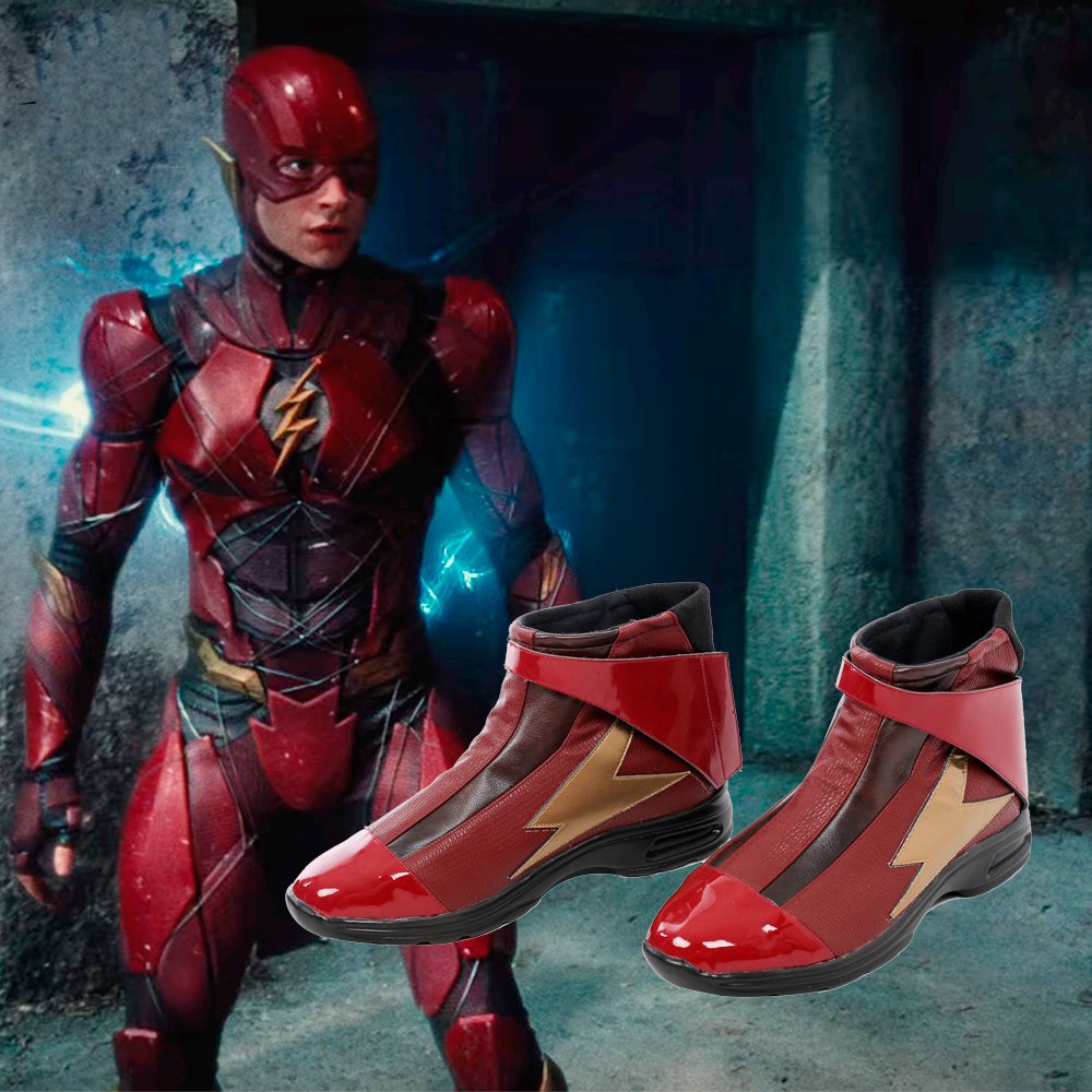 Free Shipping Justice League The Flash Boots Male Accessories Cosplay Shoes Custom Made