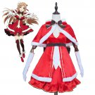 Free Shipping Sword Art Online Yuuki Asuna Xmas Christmas Dress Cloak Uniform Cosplay Costumes