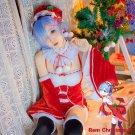 Free Shipping Re Zero Kara Hajimeru Isekai Seikatsu REM Remu RAM Ramu Christmas Cosplay Costume