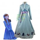 Free Shipping Olaf's adventure Anna Cosplay Costume