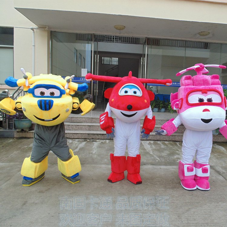free shipping air plane helicoptor mascot costume for halloween christmas event