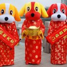 Free Shipping Chinese New Year Dog 2 Mascot Costume Instock