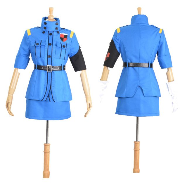 Free Shipping Hellsing Ultimate Victoria Seras Cosplay Costume Custom Size