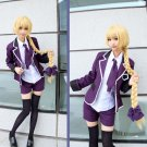 Free Shipping Fate Apocrypha Ruler Joan of Arc School Uniform Cosplay Jeanne D'Arc Costume
