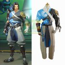 Free Shipping Young Master Hanzo Cosplay Costume Overwatch OW