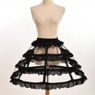 Free Shipping Women Cosplay Vintage Medieval Victorian Gothic Lolita Fishbone Petticoat Underskirt