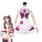 Free Shipping Fate Grand Order Cosplay Costume Tohsaka Rin Valentines Street Choco Maid Dresse