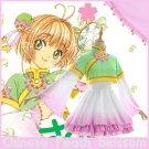 Free Shipping Cardcaptor Sakura Chinese Peach blossom Lolita Cosplay Costume