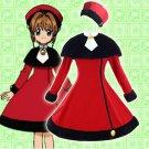 Free Shipping Cardcaptor Sakura Red Heart Woolen Winter Lolita Dress cosplay costume