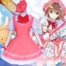 Free Shipping Cardcaptor card captor Sakura Kinomoto cosplay costume dress
