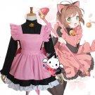 Free Shipping Card Captor Sakura Custom Made Cosplay Costume KINOMOTO SAKURA Black Cat