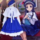 Free Shipping Card Captor Sakura Daidouji Tomoyo Cosplay Costume Full Set Lolita Maid Uniform