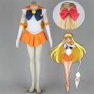 Free Shipping Sailor Moon Minako Aino / Sailor Venus Cosplay Costume custom made