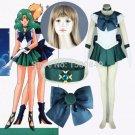 Free Shipping Sailor Moon Michiru Kaioh/ Sailor Neptune Cosplay Costume custom made