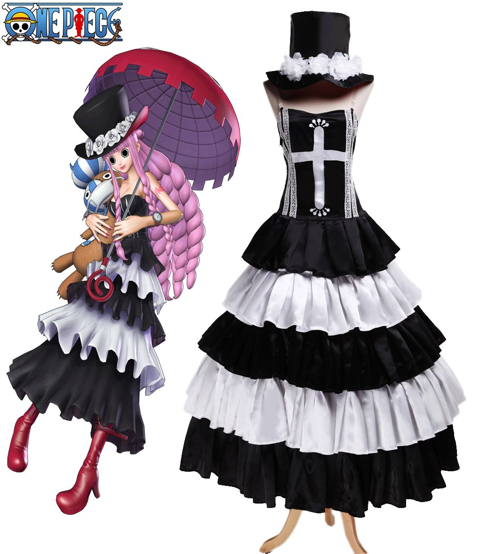 Free Shipping One piece Ghost Princess Perona Two Years Later Anime Cosplay Costume