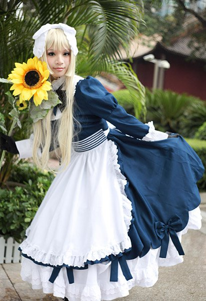 Details about  /APH Axis Powers Hetalia Belarus Lolita Cosplay Costume Maid Dress full set