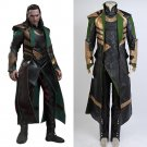 Free Shipping  Thor The Dark World Loki Cosplay Costume Whole Sets Cosplay Costume