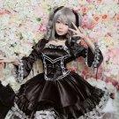 Free Shipping THE IDOLM@STER CINDERELLA MASTER Ranko Kanzaki Gothic Satin Lolita Cosplay Costume