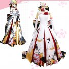 Free Shipping Fate stay night Zero Sword Saber Dress saber crane meow FGO Cosplay Costume