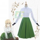 Free Shipping Violet Evergarden Green Dress Uniform Cosplay Costume