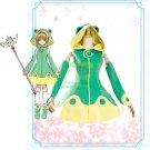 Free Shipping Cardcaptor Sakura Clear Card Frog Fighting Cosplay Costume