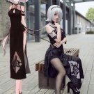 Free Shipping NieR: Automata 2B Chinese Cheongsam Cosplay Costume