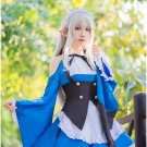 Free Shipping Re Zero Kara Hajimeru Isekai Seikatsu Ram Rem Blue Maid Dress Cosplay Costume