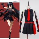 Free Shipping  Akame Ga Kill Cosplay For Adult Women Girl Night Raid Akame Costume Dress
