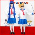Free Shipping Poputepipikku Popuko Pipimi Cosplay Costume POP PIPI TEAM EPIC School Sailor Uniform