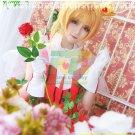 Free Shipping Sakura Clear Card Captor Sakura OP2 Rose Gamble suit cosplay costume dress