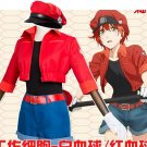 Free Shipping Cells at Work Hataraku Saibou Erythrocite Red Blood Cell Cosplay Costume