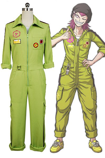 Free Shipping Super DanganRonpa Kazuichi Souda Cosplay Costume Full Set