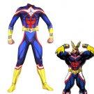 Free Shipping My Hero Academia All Might Cosplay Costume Boku no Hero Academia Bodysuit Zentai Suit