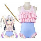 Free Shipping Kobayashi san Chi no Maid Dragon Kanna kamui miss Cosplay Swimsuit  Swimwear