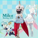 Free Shipping 2018 VOCALOID Miku Race Racing Miku Suit Uniforms Cool Girl Dress Cosplay Costume