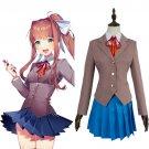Free Shipping Doki Doki Literature Club Sayori Natsuki Yuri Monika School Uniform Cosplay Costume