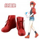 Cells at Work Hataraku Saibou Erythrocite Red Blood Cell Cosplay Shoes Boots