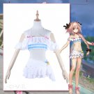 Free Shipping FGO Fate Grand Order Fate Extella Link Astolfo Cospaly Costume Sailor Swimsuit