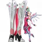 Free Shipping  OW Mercy Angela Ziegler Pink Skin Cosplay Boots Shoes Custom Made