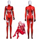 Free Shipping Zero Two Darling in the Franxx Cosplay 3D Printed Costume jumpsuit Zentai Bodysuit