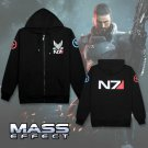 Free Shipping Hoodies Men Sweatshirt Zipper Breasted Mass Effect Tracksuit Cardigan Jacket Casual