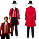 Free Shipping The Greatest Showman Costumes P.T. Barnum Cosplay Costume Red Uniform